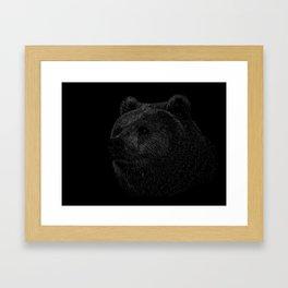 Grizzly Line art Framed Art Print