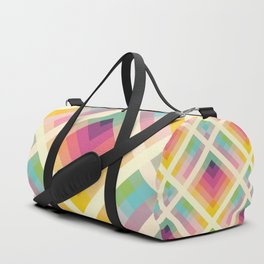 Retro Rainbow Duffle Bag