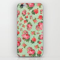 floral pattern iPhone & iPod Skins featuring FLORAL PATTERN by Allyson Johnson