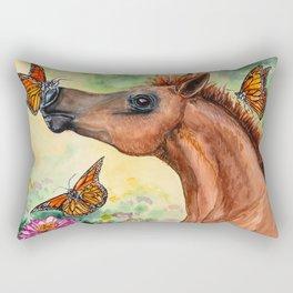 Arabian Foal - Garden Adventure Rectangular Pillow