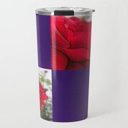 Red Rose Edges Blank Q9F0 Travel Mug