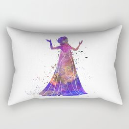 Elsa The Snow Queen in watercolor Rectangular Pillow