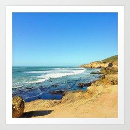 Shoreline Cliffs Art Print