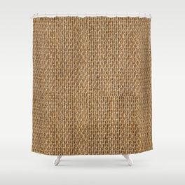 Rustic Natural Fibers  Shower Curtain