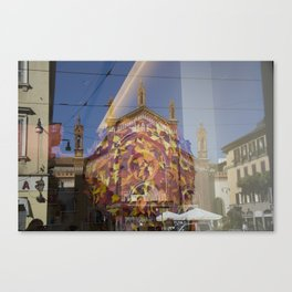 Milano - Piazza del Carmine reflected Canvas Print