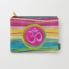 Colorfull Glitter OM symbol on  Pattern Carry-All Pouch