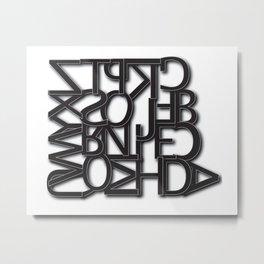 The Dyslexic Alphabet Metal Print