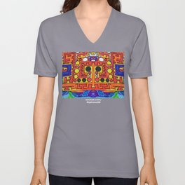 "Alan J Eichman Abstract 0030 ""cosmic crate floating on the infinite sea"" Unisex V-Neck"