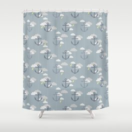 Stormy Nautical Pattern 2 Shower Curtain