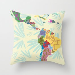 Map. Mapa. Carte. Throw Pillow