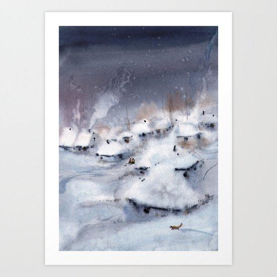 Winter tale Art Print