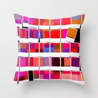 polaroid Throw Pillows featuring Polaroid by LoRo  Art & Pictures