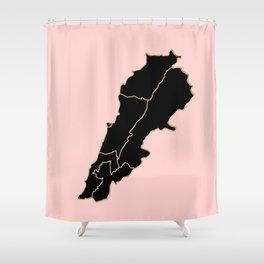 Lebanon map Shower Curtain