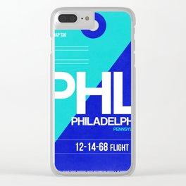 PHL Philadelphia Luggage Tag 1 Clear iPhone Case
