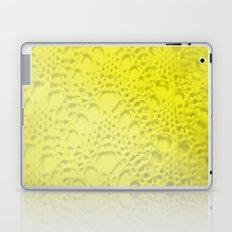 neon yellow ombre cotton crochet Laptop & iPad Skin