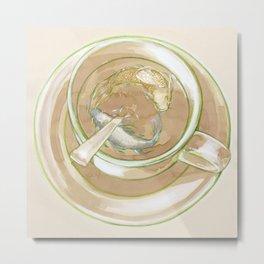 Green Tea Pond Metal Print