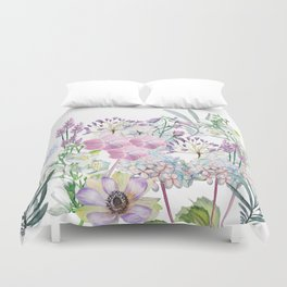 Spring Flowers Bouquet Duvet Cover