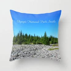 Olympic National Park landscape photography.  Throw Pillow