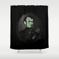 lincoln Shower Curtains featuring Grime Lincoln by fifteenexes