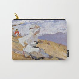 Joaquin Sorolla y Bastida - Capturing the moment, 1906 Carry-All Pouch