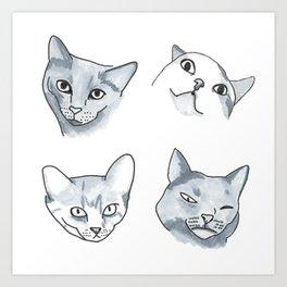 Cat Quadrant Art Print