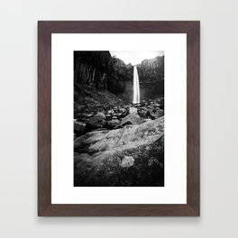 Svartifoss Waterfall Iceland Framed Art Print