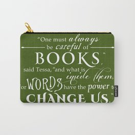 Words Have the Power to Change - Tessa (Olive Green) Carry-All Pouch
