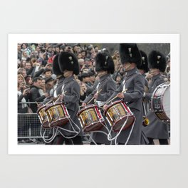 Snare Drums Marching during the Changing of the Guard in front of Buckingham Palace London England Art Print