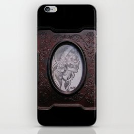 Framed Girl Skull iPhone Skin