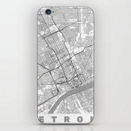 Detroit Map Line iPhone Skin