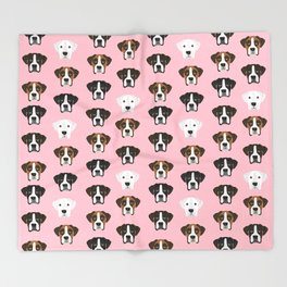 Boxers cute dog head boxer pattern must have gifts for dog lover with boxers Decke