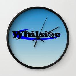 Whilsiac Text Logo Wall Clock