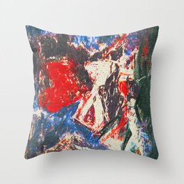 女性着物着て (woman wearing kimono) Throw Pillow