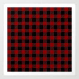 Red and Black Plaid Art Print