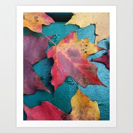 WithrowLeaves Art Print