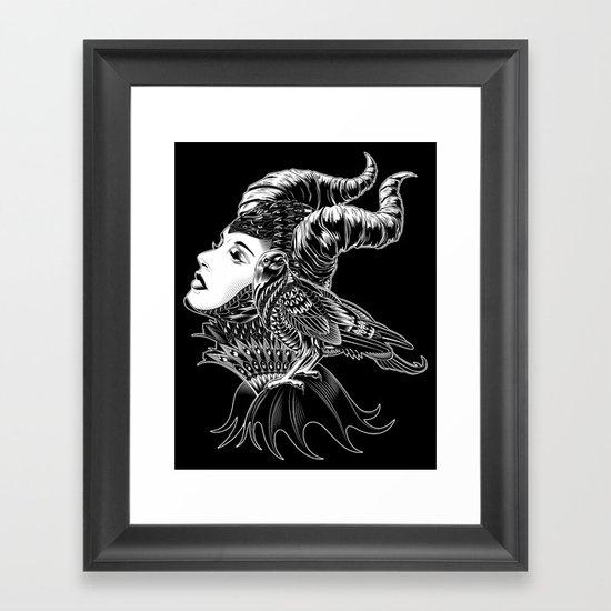 Maleficent Tribute Framed Art Print