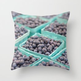Blueberries on Saturday Morning Throw Pillow
