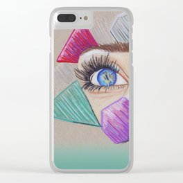 Through your eyes Clear iPhone Case