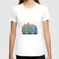 vw bus T-shirts featuring VW Bus by AshyGough