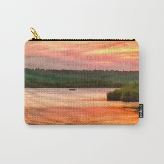 Summer sunset on Wild lake Carry-All Pouch
