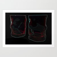 glasses Art Prints featuring glasses by Lora Si
