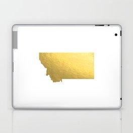 Montana State Printable Art Montana Art Printable Montana Map Printable Faux Gold Foil Printable Wal Laptop & iPad Skin