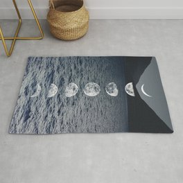 Moon Phases by Night Rug