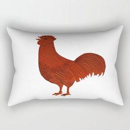 Alarm Clock Rooster 1 Rectangular Pillow