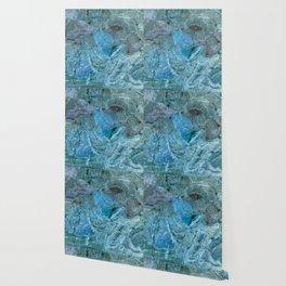 Oceania Teal & Blue Marble Wallpaper
