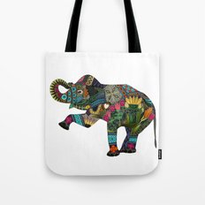 asian elephant white Tote Bag