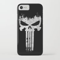 punisher iPhone & iPod Cases featuring The Punisher  by Ricardo A.