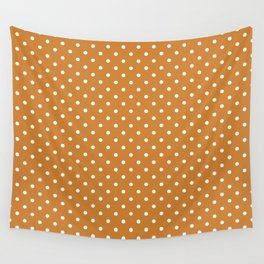 Dots (White/Bronze) Wall Tapestry