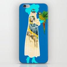 Bird Coat Blue iPhone & iPod Skin