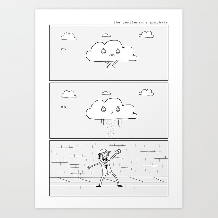 Singing in the Rain Art Print
